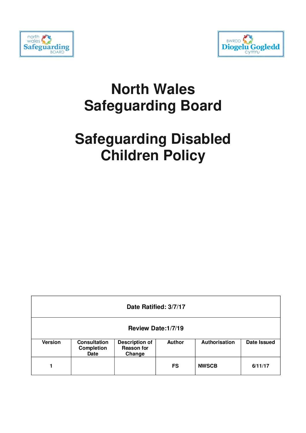 NWSB Safeguarding Disabled Children Policy