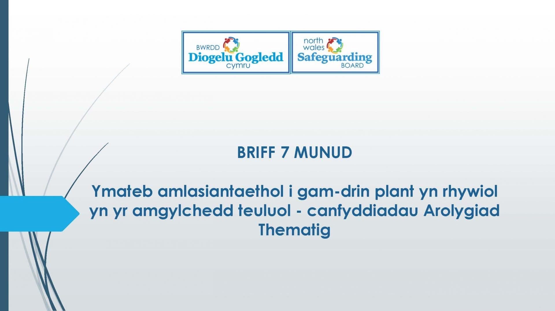 Ymateb amlasiantaethol i gam-drin plant yn rhywiol yn yr amgylchedd teuluol - canfyddiadau Arolygiad Thematig
