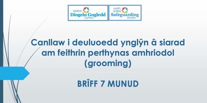 Canllaw i deuluoedd ynglŷn â siarad am feithrin perthynas amhriodol (grooming)