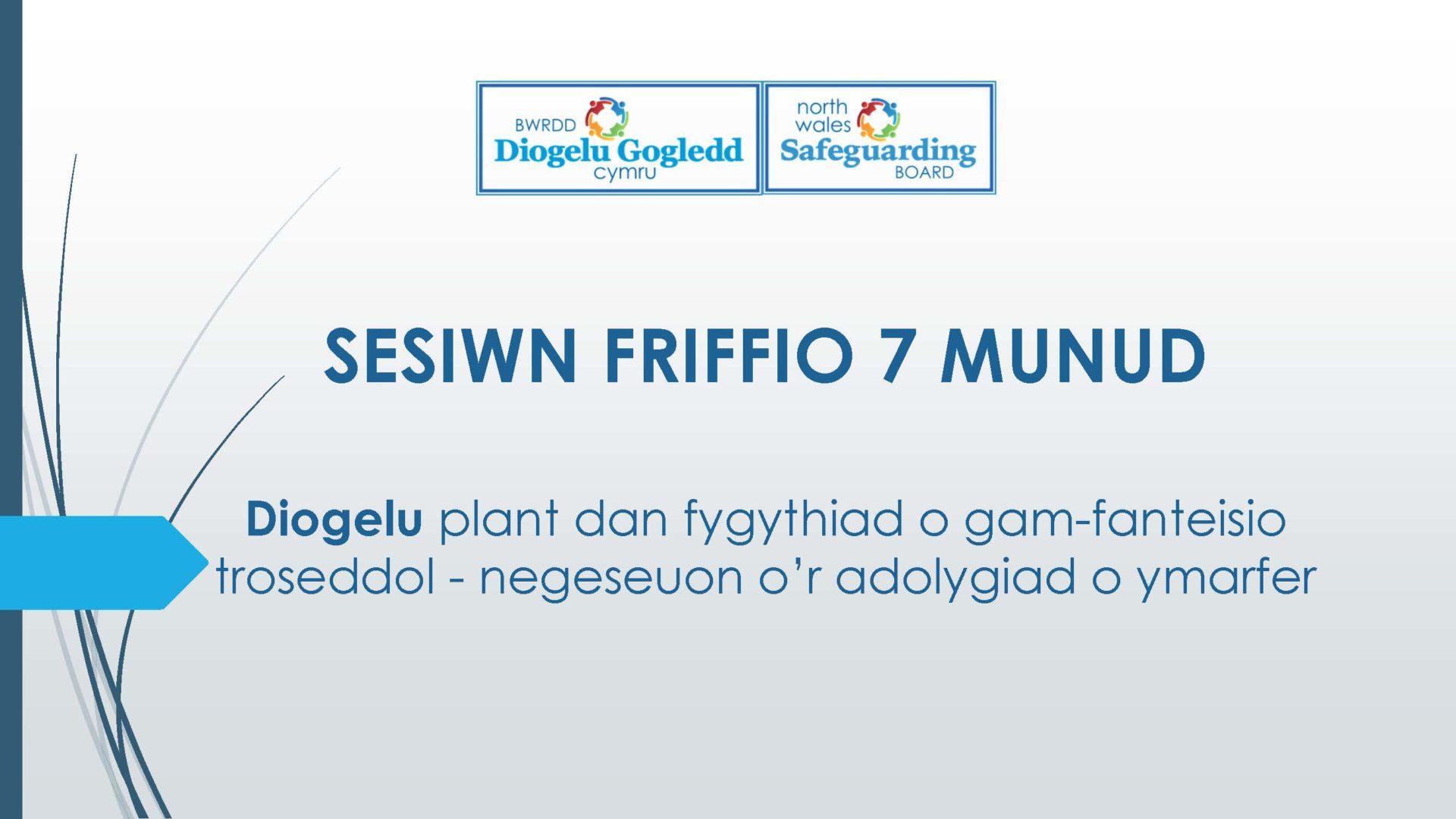 Diogelu plant dan fygythiad o gam-fanteisio troseddol - negeseuon o'r adolygiad o ymarfer