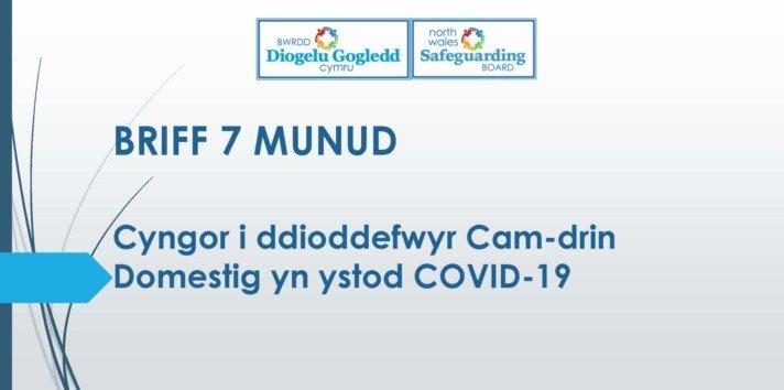 Cyngor i ddioddefwyr Cam Domestig yn ystod COVID-19