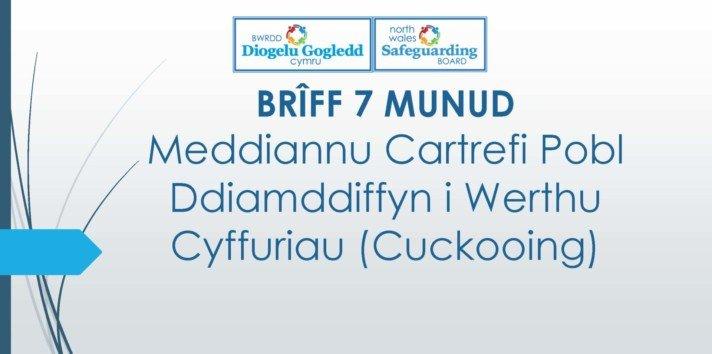 Meddiannu Cartrefi Pobl Ddiamddiffyn i Werthu Cyffuriau (Cuckooing)