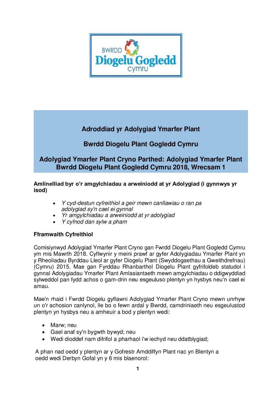 Adolygiad Ymarfer Plant Bwrdd Diogelu Gogledd Cymru Wrecsam 1 2018