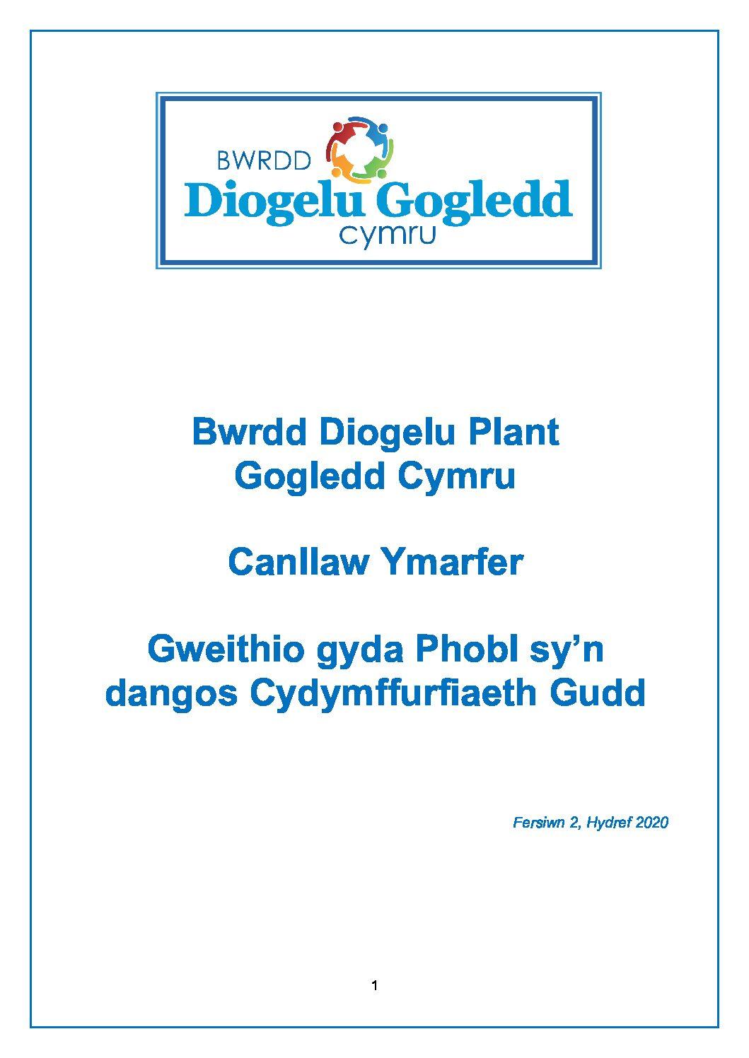 Gogledd Cymru Canllaw Ymarfer Gweithio gyda Phobl sy'n dangos Cydymffurfiaeth Gudd
