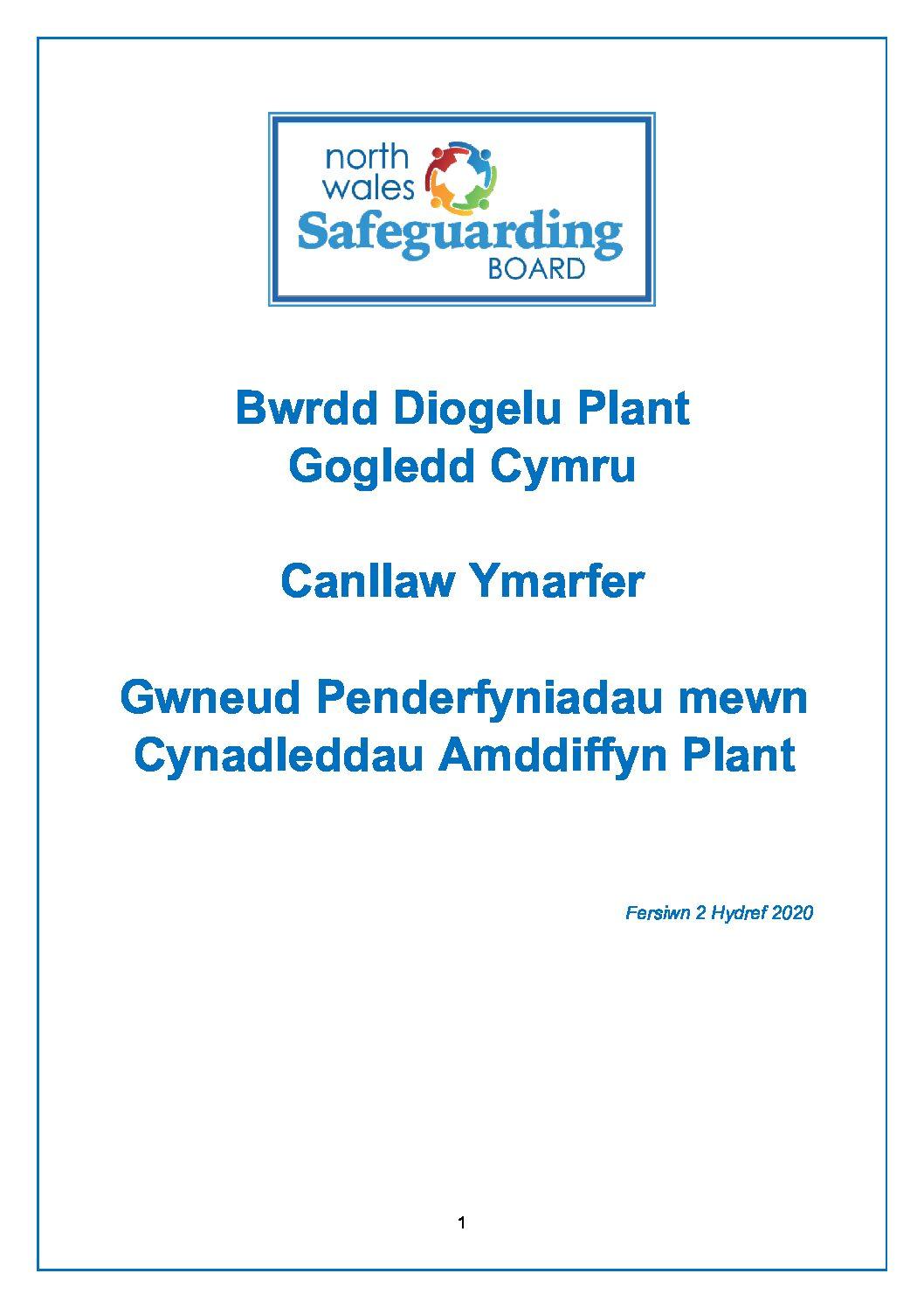 Gogledd Cymru Canllaw Ymarfer Gwneud Penderfyniadau mewn Cynadleddau Amddiffyn Plant