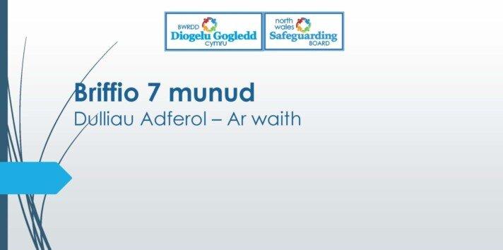 Dulliau Adferol – Ar waith