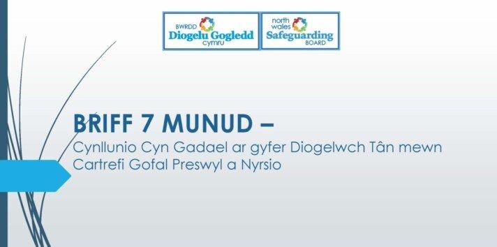 Cynllunio Cyn Gadael ar gyfer Diogelwch Tân mewn Cartrefi Gofal Preswyl a Nyrsio
