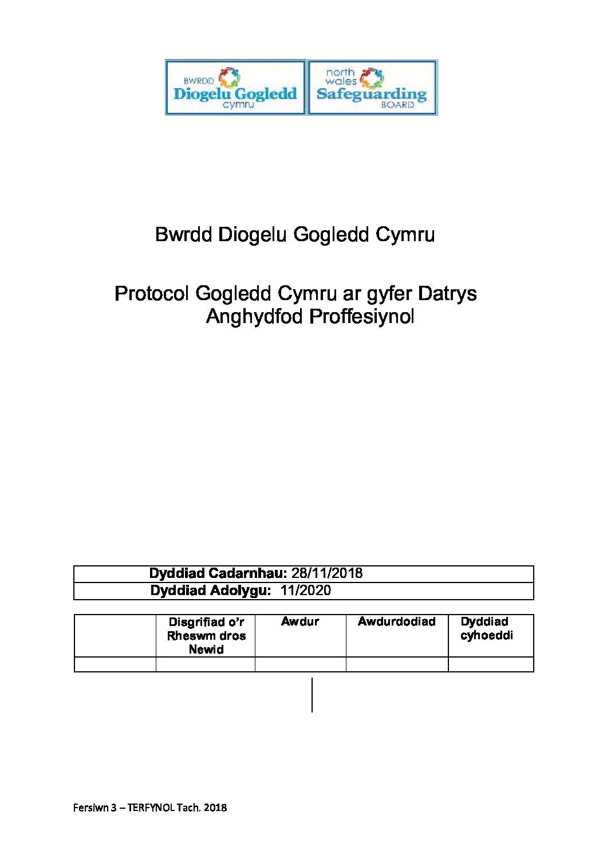 Protocol Gogledd Cymru ar gyfer Datrys Anghydfod Proffesiynol